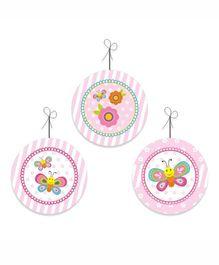 Prettyurparty Butterfly Danglers- Pink