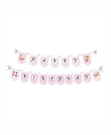 Prettyurparty Butterfly Birthday Bunting- Pink
