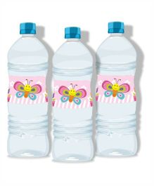 Prettyurparty Butterfly Water Bottle Labels- Pink