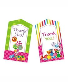Prettyurparty Candy Shoppe Thank-You Cards - Multi Color