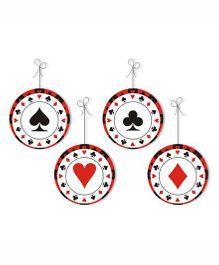 Prettyurparty Casino Danglers- Black and Red