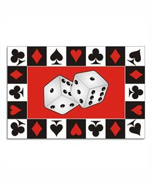 Prettyurparty Casino Table Mats- Black and Red