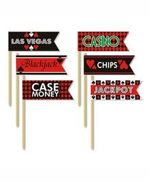 Prettyurparty Casino Toothpicks- Black and Red