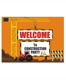 Prettyurparty Construction Entrance Banner / Door Sign- Brown