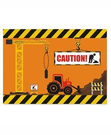 Prettyurparty Construction Table Mats- Brown