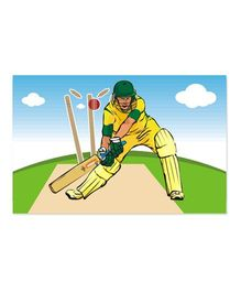 Prettyurparty Cricket Table Mats Multicolor - Pack Of 6