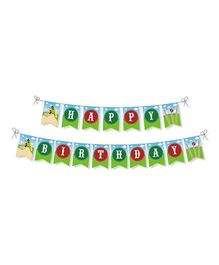 Prettyurparty Cricket Theme Bunting - Multicolor