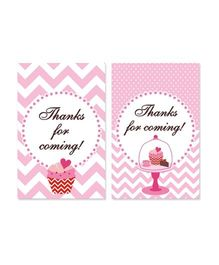 Prettyurparty Cupcake Thank You Cards - Pack Of 10