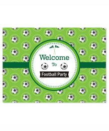 Prettyurparty Football Entrance Banner / Door Sign- Green