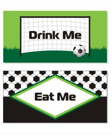 Prettyurparty Football Food Labels- Multi Color