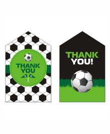Prettyurparty Football Thankyou Cards- Green and Black