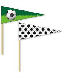 Prettyurparty Football Toothpicks- Green and Black