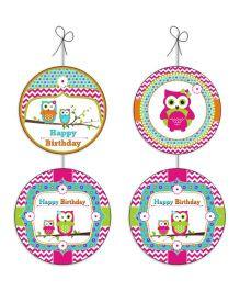 Prettyurparty Girly Owl Danglers- Pink