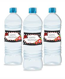 Prettyurparty Lady Bug Water Bottle Labels- Black and Red