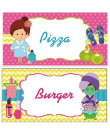 Prettyurparty Spa Food Labels- Multi Color