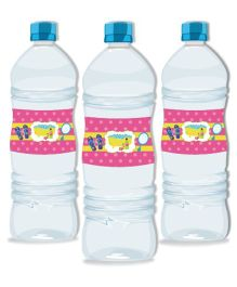 Prettyurparty Spa Water Bottle Labels- Pink