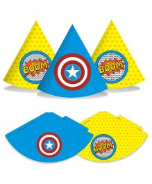Prettyurparty Superhero Hats- Multi Color