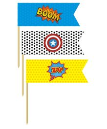 Prettyurparty Superhero Toothpicks- Multi Color