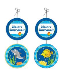 Prettyurparty Under The Sea Party Danglers- Blue