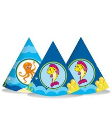 Prettyurparty Under the Sea Party Hats- Blue