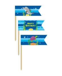 Prettyurparty Under the Sea Toothpicks- Blue