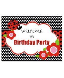 Prettyurparty Lady Bug Entrance/Door Banner- Red and Black