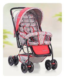Babyhug Cosy Cosmo Stroller - Bright Red