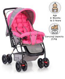 Babyhug Cosy Cosmo Stroller - Blush Pink