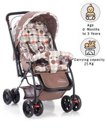 Babyhug Cosy Cosmo Stroller - Coffee Brown