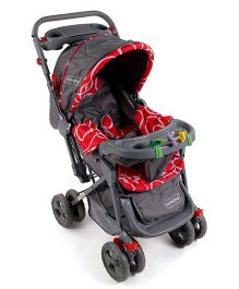 Babyhug Elite Stroller - Red Grey