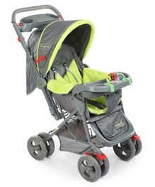 Babyhug Elite Stroller - Green & Grey
