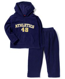 Kanvin Athletics 48 Printed Hooded Jacket And Pant Set - Navy