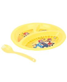 Pokemon Sizzler Dinner Plate - Yellow