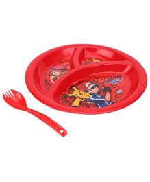 Pokemon Dinner Plate - Red