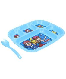 Pokemon Dinner Plate Blue - 5 Compartments