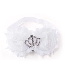 Little Cuddle Crown Flower Headband - White