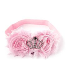 Little Cuddle Crown Flower Headband - Pink