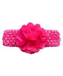 Little Cuddle Crochet Ruffle Headband - Dark Pink