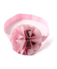 Little Cuddle Ruffle Bow Headband - Light Pink