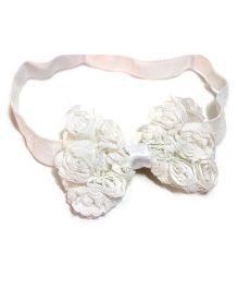Little Cuddle Rossette Bow Headband - White