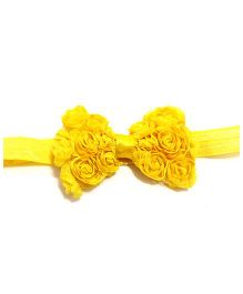 Little Cuddle Rossette Bow Headband - Yellow