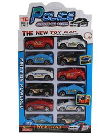Police Toy Cars Multicolor -  Pack of 12