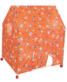 Lovely Play Tent House Hello Kitty Print -  Orange