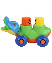 Pull Along Crocodile Shape Toy - Green