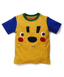 Babyhug Half Sleeves T-Shirt Graphic Print - Blue Yellow