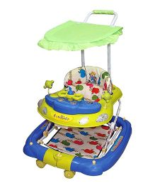 Funride Snoopy 7-in-1 Deluxe Walker - Green & Yellow