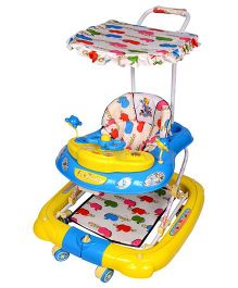Funride Snoopy 7-in-1 Deluxe Walker - Blue & Yellow