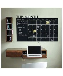 Nidokido Monthly Planner Chalkboard Wall Sticker - Black