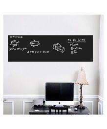 Nidokido Plain Chalkboard Wall Sticker - Black