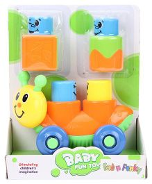 Fab N Funky Snail Shaped Baby Fun Car - Orange